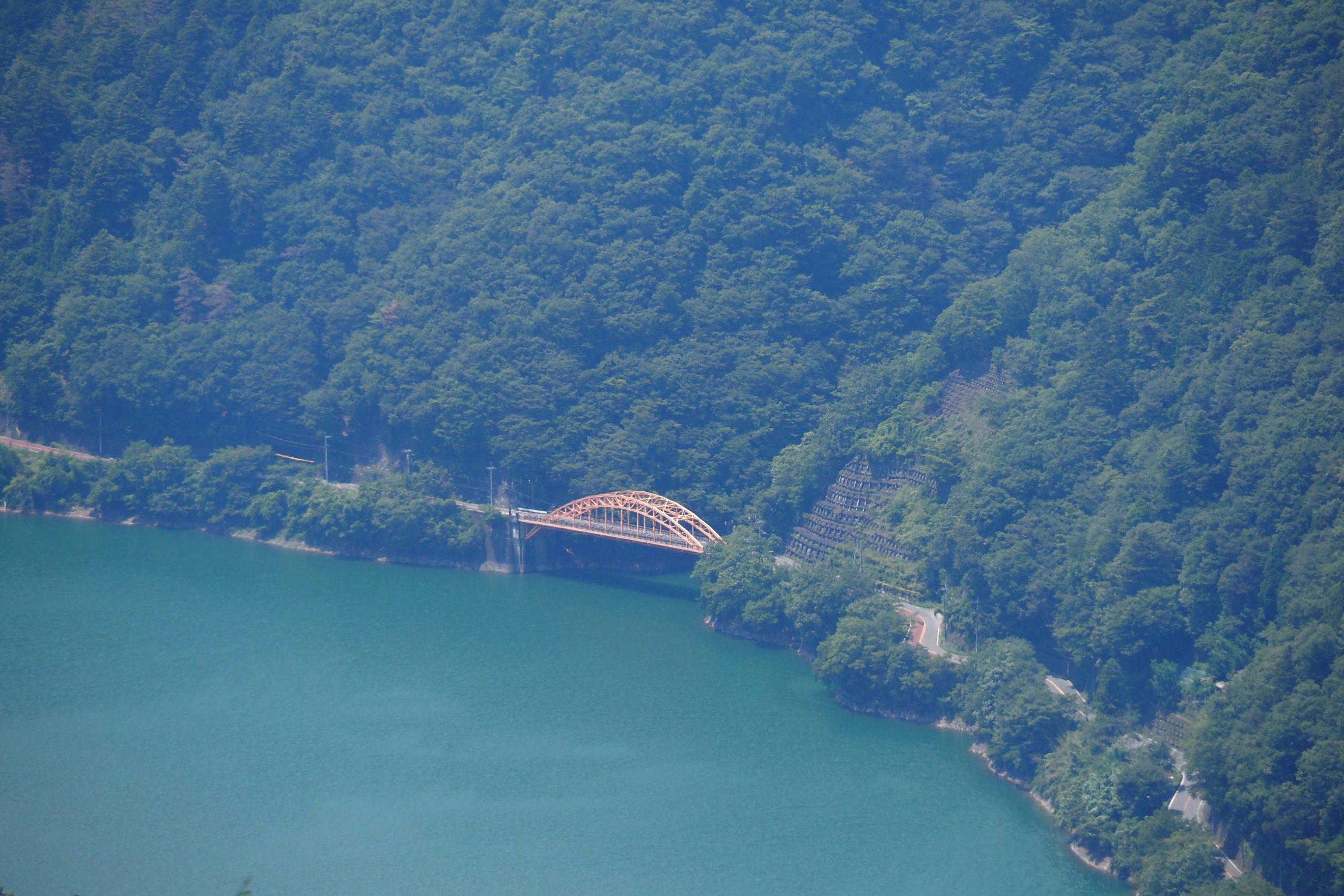 奥多摩周遊道路から見た麦山橋